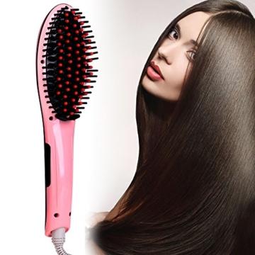 ACEVIVI Haarglätter mit Warmluft und LCD EU Stecker, Pink -