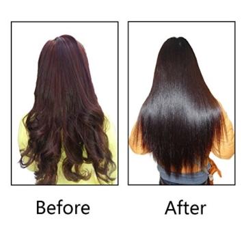 BeautyWill Multifunktionale Haarglättungsbürste, sofortiges glattes Haar, Anionen-Haarpflege Keramikglätteisen mit Verbrühschutz anti-statisch Haarmassage pink -