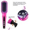 ACEVIVI Ionen Keramik Glättbürste Haarglätter mit Warmluft und LCD EU Stecker Pink,A2565 -