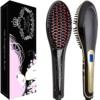 Haarglättungs bürste - Asavea Glätteisen Bürste, # 1 Sicherste Schnellste Keramik Aufheizung Entwirrung, Verbrühungsschutz patentiertes Design, unterstützt durch FCC ETL, kostenlose Reisetasche, haben Sie großartiges Haar, wohin Sie gehen! -